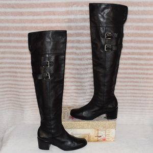 KORS Michael Kors Thigh High Sexy Leather Boots 6M